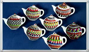Bemaltes Porzellan von Helga Krieger aus Potsdam