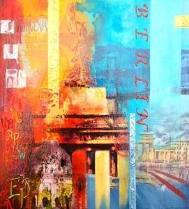 Helga Krieger Collage Berlin ausgestellt im FRITZ Hotel Potsdam